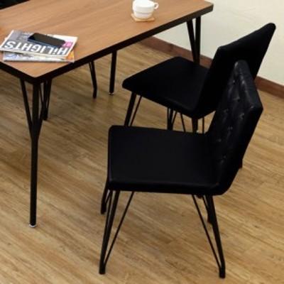 ダイニングチェアMELLA(2脚入り) BK/BR || 家具