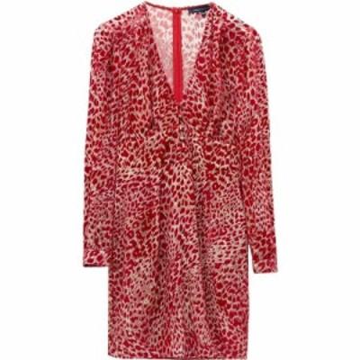 フレンチコネクション French Connection レディース ワンピース ワンピース・ドレス Adelma Devore Leopard Print Dress Lipstick Red M