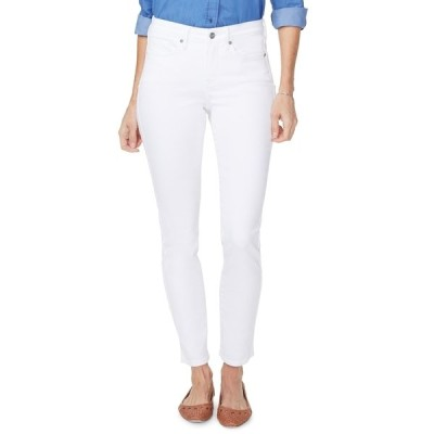 エヌワイディージェイ レディース デニムパンツ ボトムス Alina Ankle Crop Skinny Jeans OPTIC WHITE