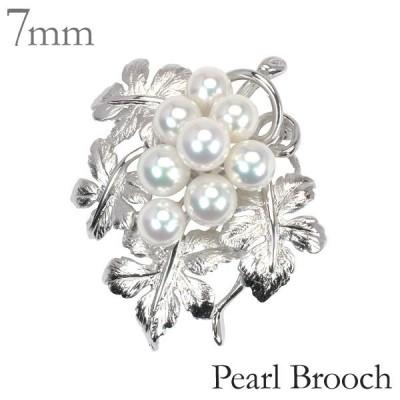 パール ブローチ 真珠 ブローチ フォーマル 植物モチーフ あこや真珠 レディース ジュエリー 記念日 プレゼント ギフト 人気