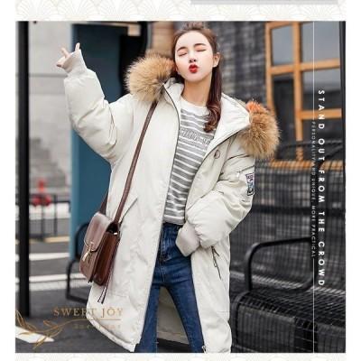 中綿ジャケット 中綿ダウンコート ロング丈 冬用 レディース フェイクファー アウター 暖かい 防風防寒 ファー付フード オシャレ 厚手 大きいサイズ 軽量 6色