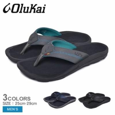 オルカイ サンダル メンズ ビーチサンダル フットベッド 靴 シューズ 黒 海 OLUKAI KIPI 10324