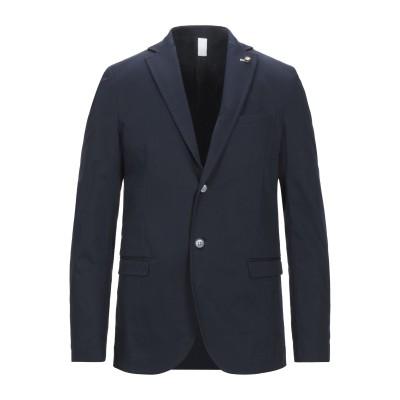ROBERTO P  Luxury テーラードジャケット ダークブルー 52 コットン 97% / ポリウレタン 3% テーラードジャケット