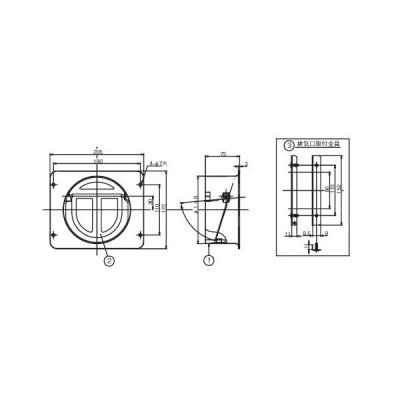 リンナイ レンジフード 部材 【TMS-15】 BFR-1E-AP専用丸排気シャッター [新品]