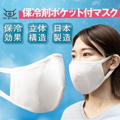 キングジム 夏と乗り切るひんやりマスク 1枚入り 保冷剤4個付属 ntm10