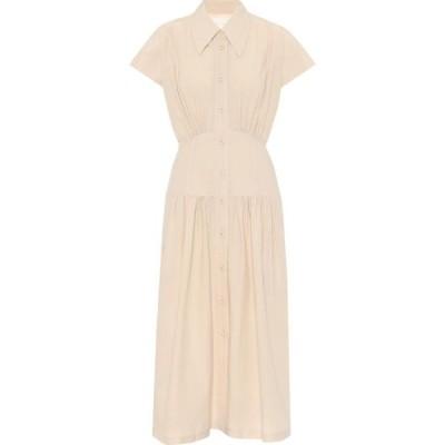ロウ クラシック Low classic レディース ワンピース シャツワンピース ワンピース・ドレス Cotton-blend shirt dress Light Beige