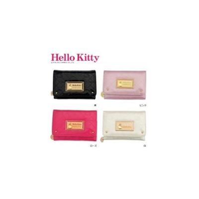 HelloKitty ハローキティ 二つ折り財布 かぶせ付中RF札入 HK26-3 ピンク