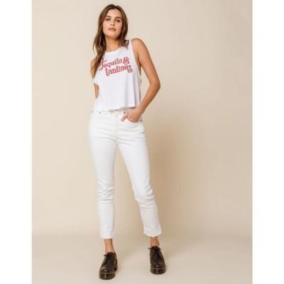 リーバイス LEVI'S レディース ジーンズ・デニム ボトムス・パンツ 501 White Stretch Skinny Jeans WHITE