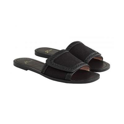 J.Crew レディース 女性用 シューズ 靴 サンダル Canvas Sunnie Slide - Black