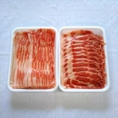 朝霧ヨーグル豚 焼肉用スライス・バラ&肩ロースセット