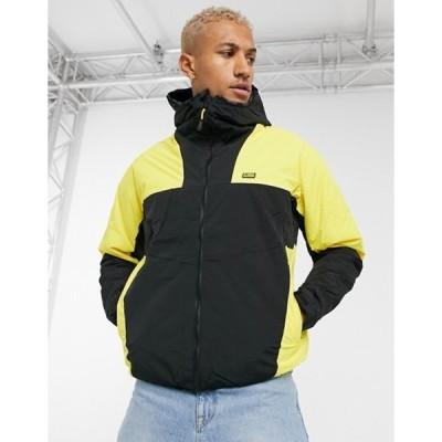 プルアンドベアー メンズ ジャケット・ブルゾン アウター Pull&Bear padded windbreaker jacket in yellow colorblock