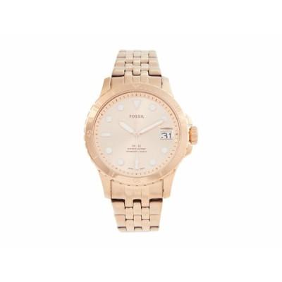 フォッシル 腕時計 アクセサリー レディース 36 mm Fossil Blue - ES4748 Rose Gold