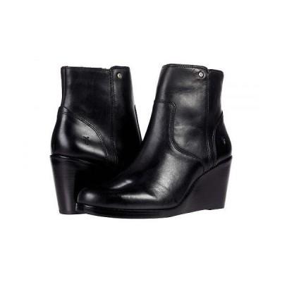 Frye フライ レディース 女性用 シューズ 靴 ブーツ アンクル ショートブーツ Emma Wedge Short - Black