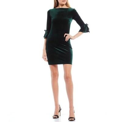 ビーダーリン レディース ワンピース トップス Bell Sleeve Velvet Sheath Dress