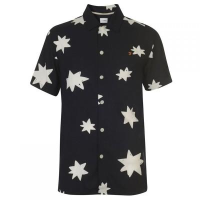 ファーラーヴィンテージ Farah Vintage メンズ シャツ トップス Farah Star Print Shirt NAVY