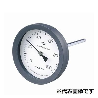 佐藤計量器 バイメタル温度計 100℃-L=50/2080-12 BM-T-100P-100050