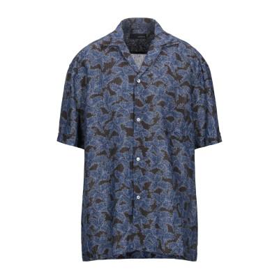 ラルディーニ LARDINI シャツ ダークブラウン XL リネン 100% シャツ