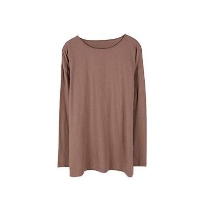 Tシャツ 長袖 綿100% コットン 天竺 ボーダー柄 無地 大きいサイズ 丸首 クルーネック Uネック シンプル ベーシック カジュアル