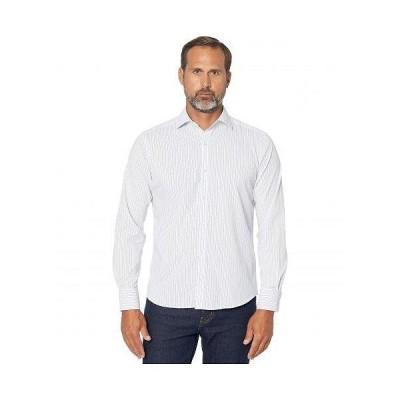 Bugatchi ブガッティ メンズ 男性用 ファッション ボタンシャツ Salvatore Performance Shaped Fit Shirt - White