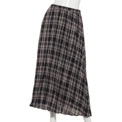 Te chichi (テチチ) レディース Lugnoncureポリ麻プリ―ツスカート ブラック フリー
