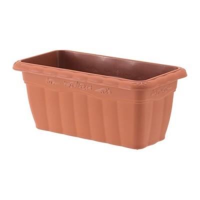 植木鉢 長方形 プラ鉢 アップルウェアー クイーンプランター ブラウン茶 350型 幅35cm×奥行17cm×高さ15cm