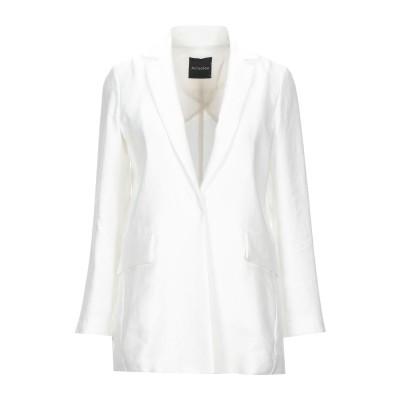 ACTUALEE テーラードジャケット ホワイト 44 リネン 50% / レーヨン 27% / ポリエステル 23% テーラードジャケット