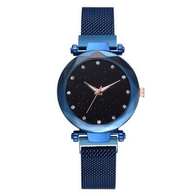 女性腕時計  星空ウォッチ スチールメッシュ  海外輸入品  ブルー