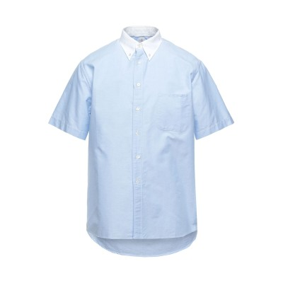 EAST HARBOUR SURPLUS シャツ スカイブルー 48 コットン 100% シャツ