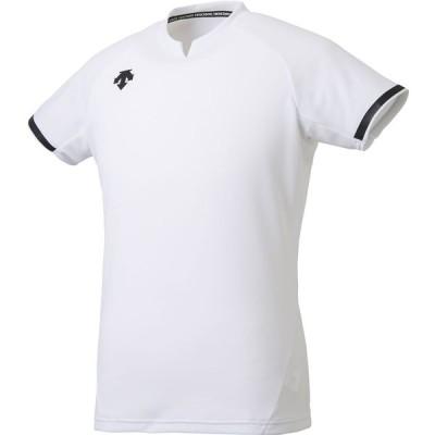 【送料290円】デサント 半袖ゲームシャツ バレーボール 男女兼用 ユニセックス ホワイト DESCENTE DSS4024 WHT