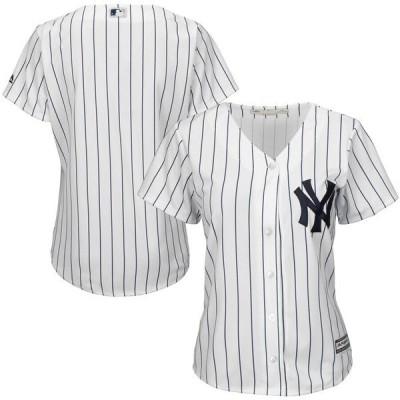 マジェスティック レディース Tシャツ トップス New York Yankees Majestic Women's Cool Base Jersey