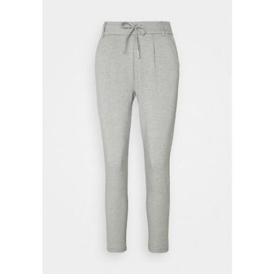 レディース ファッション ONLPOPTRASH EASY COLOUR PANT - Trousers - light grey melange