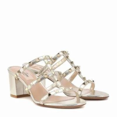 ヴァレンティノ サンダル・ミュール Garavani Rockstud leather sandals Platino