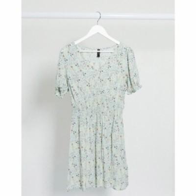 ワイ エー エス Y.A.S レディース ワンピース ワンピース・ドレス mini dress with shirred waist in ditsy floral