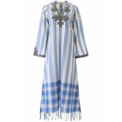 TORY BURCH/トリー バーチ ワンピース LIGHT BLUE Tory burch embroidered kaftan dress レディース 春夏2020 71749 ik