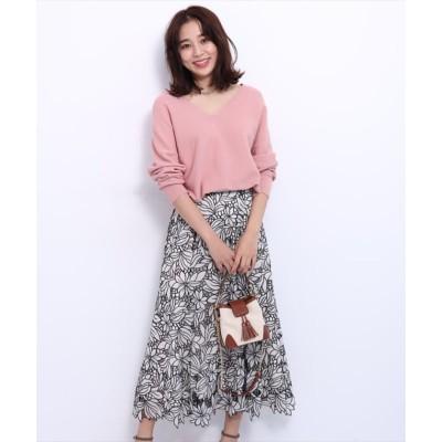 【ジャスグリッティー】 エアリー刺繍スカート レディース ベージュ 2 JUSGLITTY