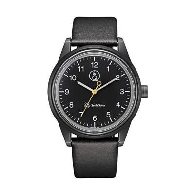 [シチズン Q&Q] 腕時計 アナログ スマイルソーラー リンクコーデ 防水 革ベルト RP20-004 メンズ ブラック