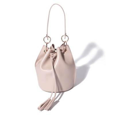 (Trysil/トライシル)2wayミニ巾着バッグ/レディース グレージュ