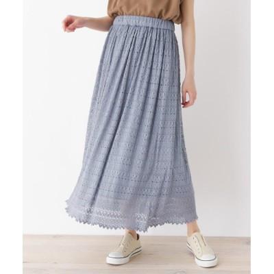 SHOO・LA・RUE/DRESKIP(シューラルー/ドレスキップ) 【M-LL】ハイウエストマキシ丈レーススカート