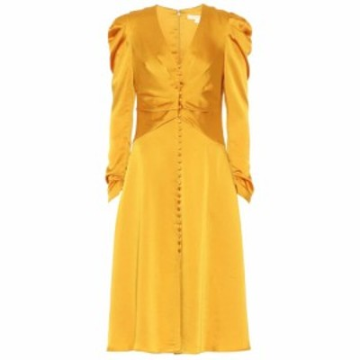 ジョナサン シンカイ Jonathan Simkhai レディース ワンピース ワンピース・ドレス Crepe-satin midi dress Turmeric