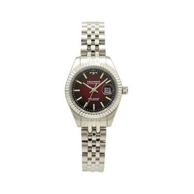 [テクノス] 腕時計 3針 デイト T9888SR レディース シルバー