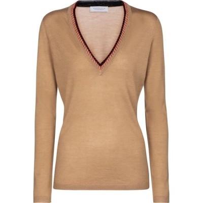 ガブリエラ ハースト Gabriela Hearst レディース ニット・セーター トップス Lorenco cashmere and silk sweater Camel/Red/Black