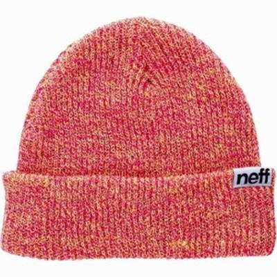 ネフ Neff メンズ ニット ビーニー 帽子 Fold Heather Beanie Lime Punch/Magenta
