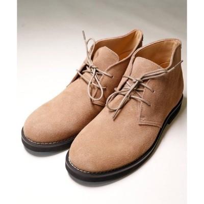 ブーツ 【DEDES】本革 チャッカーブーツ ショートブーツ