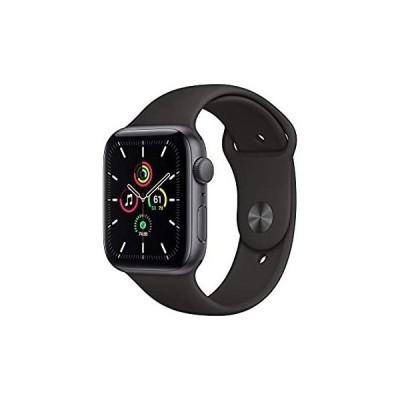 【送料無料】New Apple Watch SE (GPS, 44mm) - Space Gray Aluminum Case with Black Sport