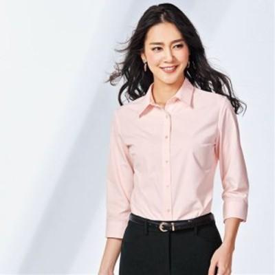レディースファッション 形態安定レギュラーシャツ(7分袖)(UVカット・抗菌防臭・洗濯機OK・部屋干しOK) S M L LL MT LT LLT|2663-474961