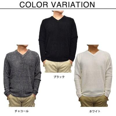 レーヨンモールVネックセーター