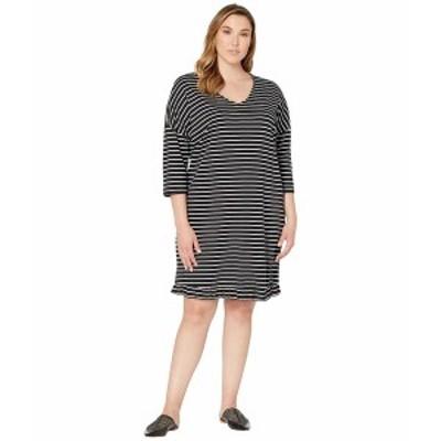 ジュナローズ レディース ワンピース トップス Plus Size Dessi 3/4 Sleeve Dress Black
