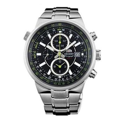 オリエント Orient 腕時計 時計 ORIENT MEN'S 45MM STEEL BRACELET & CASE QUARTZ BLACK DIAL WATCH FTT15001B0