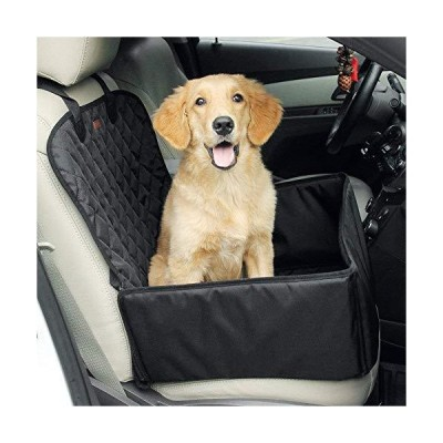 Louvra Dog Car Booster Seats 2 in 1 Car Single Front Pet Seats Soft Padded Small Dog Car Seat Waterproof Cat Puppy Lookout Booster Carrier F