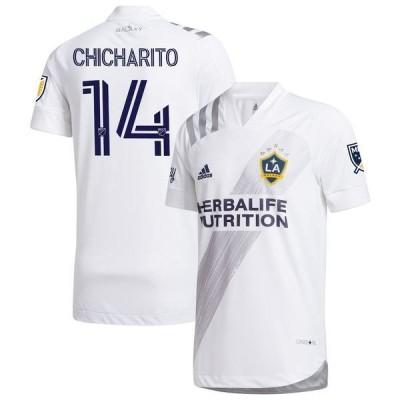 アディダス メンズ Tシャツ トップス Chicharito LA Galaxy adidas 2020 25th Season Celebration Authentic Jersey